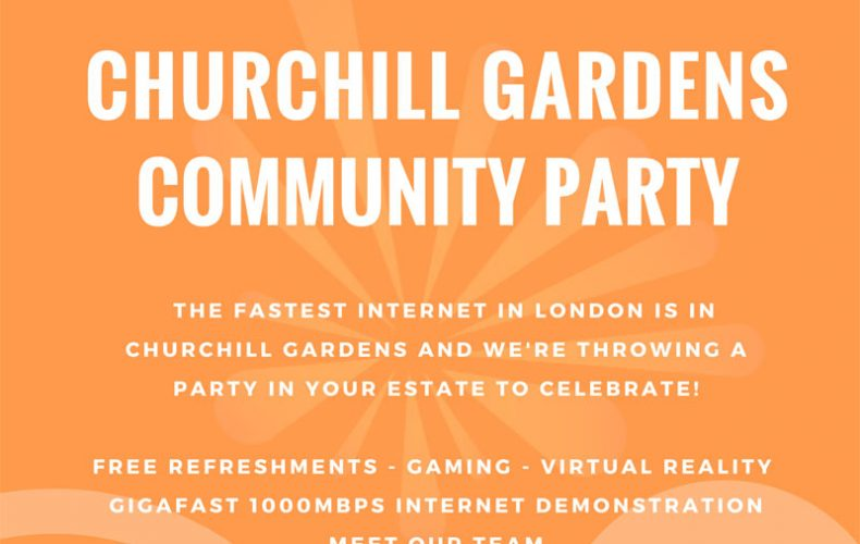 Churchill Gardens Community Fibre Party