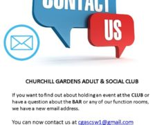 Contact the Churchill Gardens Adult & Social Club