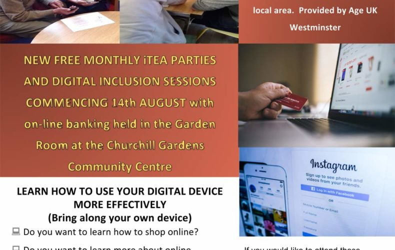 New Events for Residents in Churchill Gardens Ward aged 55 +
