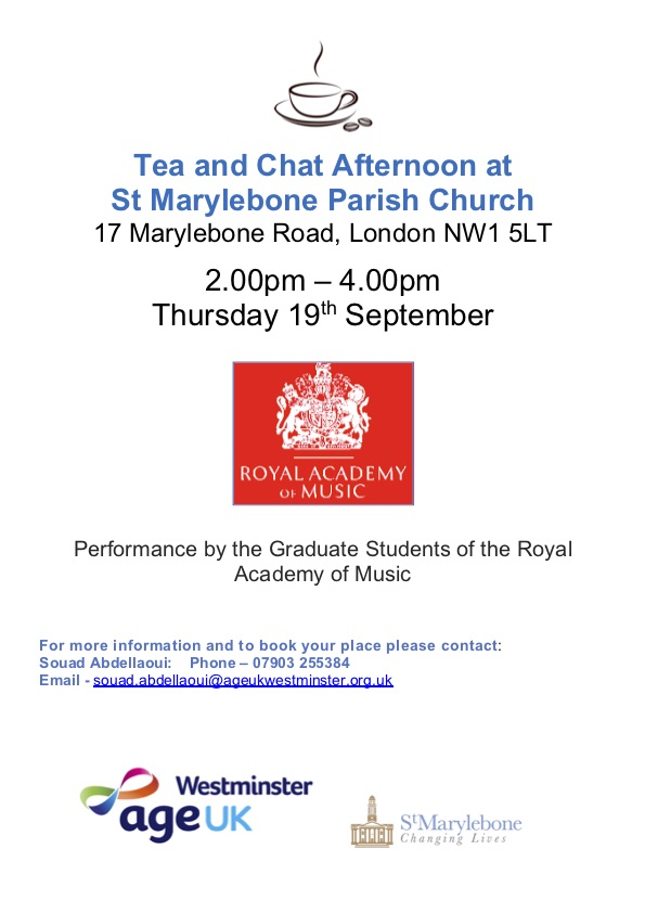 Performance by the Graduate Students of the Royal Academy of Music – AgeUK