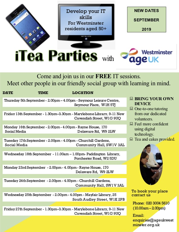 September IT Parties with AgeUK